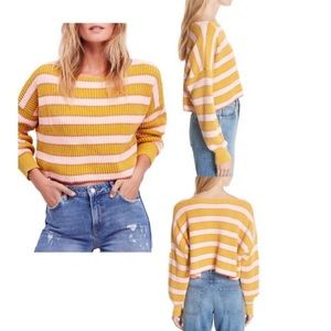 Free people Just My Stripe Pullover size small